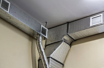 air duct ventilation equipment and pipe systems
